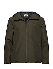 STRODE HOODED COAT - MOSS