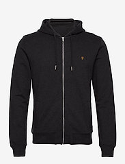 Farah - KYLE HOODIE - basic sweatshirts - black marl - 1