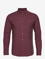 Farah - STEEN SLIM FIT SHIRT - linnen overhemden - farah red - 0