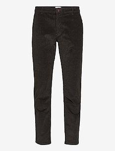 ELM STRETCH CORD SLIM FIT CHINO - regular jeans - black