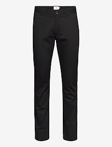 ELM TWILL SLIM FIT CHINO - pantalons chino - black