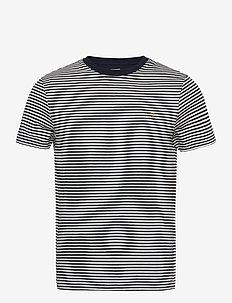 DAYTONA STRIPED T-SHIRT - kortærmede t-shirts - true navy
