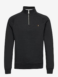 JIM 1/4 ZIP SWEATSHIRT - half zip jumpers - black