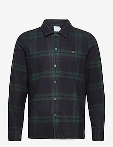 DRUMMOND CHECK OVERSHIRT - hauts - deep olive