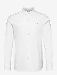 BREWER SLIM LS BD - basic skjorter - white