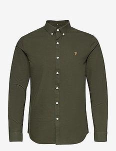BREWER LONG SLEEVED SLIM FIT SHIRT - basic skjorter - evergreen