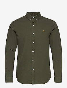 BREWER LONG SLEEVED SLIM FIT SHIRT - basic skjortor - evergreen