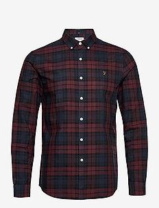 BREWER CHECK LONG SLEEVE SLIM FIT SHIRT - ternede skjorter - farah red