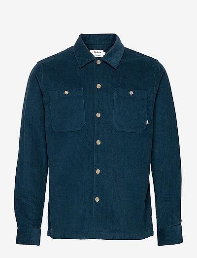 AMBERSON CORD OVERSHIRT - linnen overhemden - atlantic