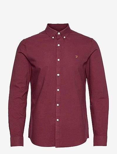 BREWER SLIM FIT SHIRT - linnen overhemden - bordeaux
