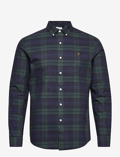 BREWER CHECK SHIRT - linnen overhemden - woodland pine