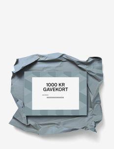 Gift card - andet - dkk 1000