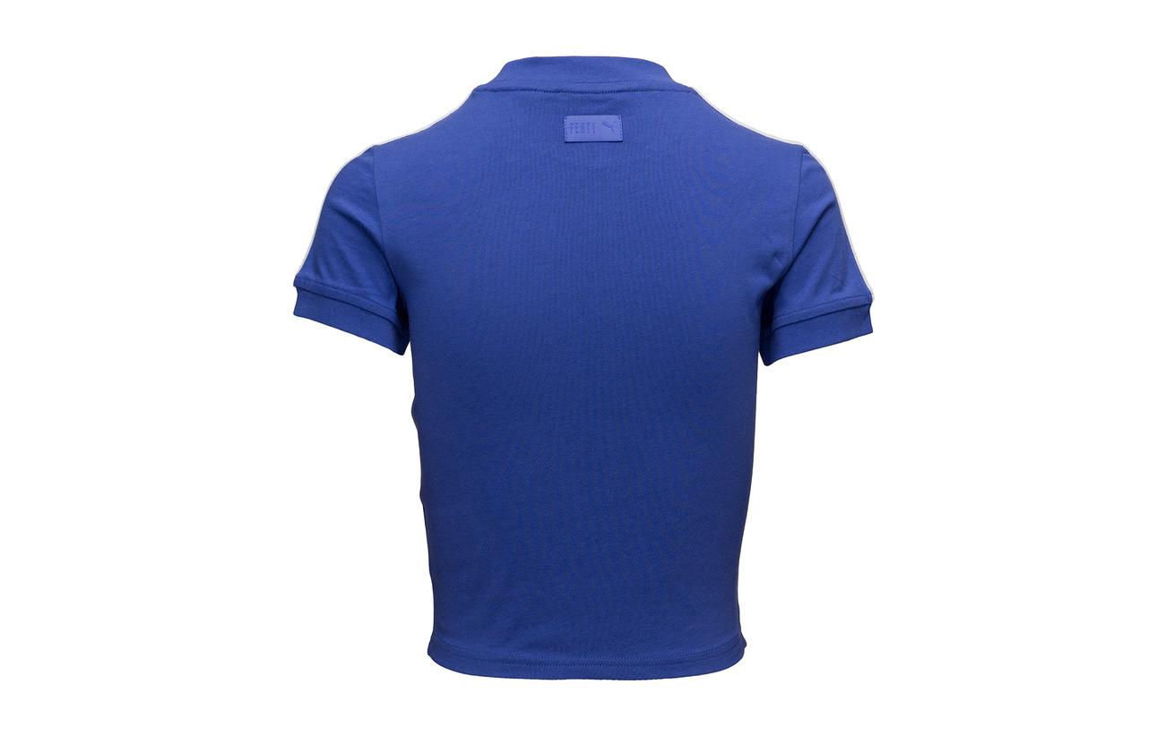 Coton By Elastane Polyester Tee Cropped Blue Fenty 26 Puma 7 Ss 67 Dazzling Rihanna HxRnzOw