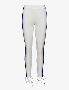 BACK LACING TIGHTS - BRIGHT WHITE