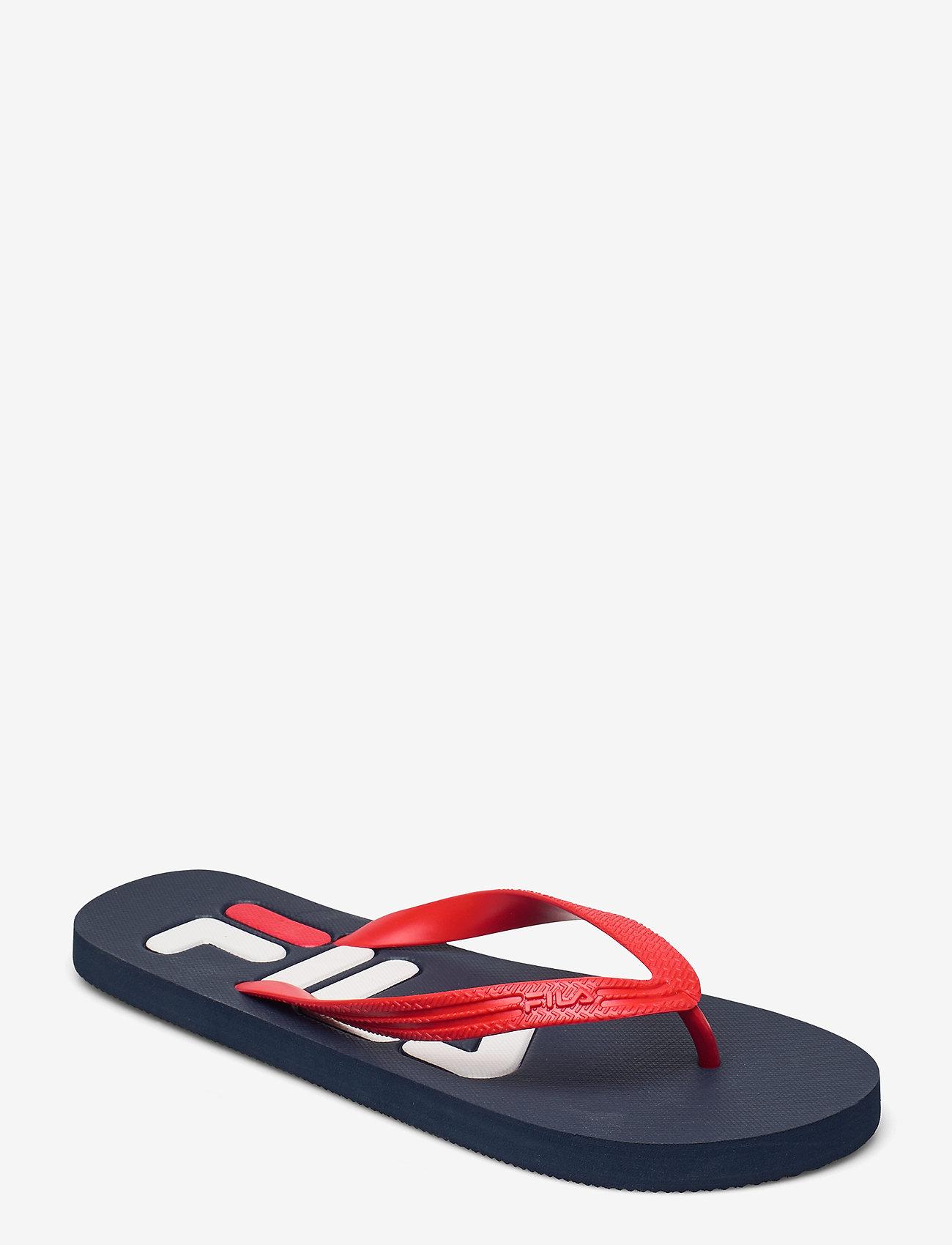 FILA - Troy Slipper - urheilukengät - dress blues / high risk red - 0