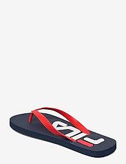 FILA - Troy Slipper - urheilukengät - dress blues / high risk red - 2