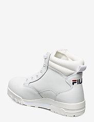 FILA - Grunge II L mid wmn - platte enkellaarsjes - white - 2