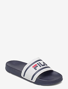Morro Bay slipper 2.0 - badtofflor - white / fila navy