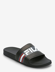 Oceano Slipper - pool sliders - black / castlerock / fila red