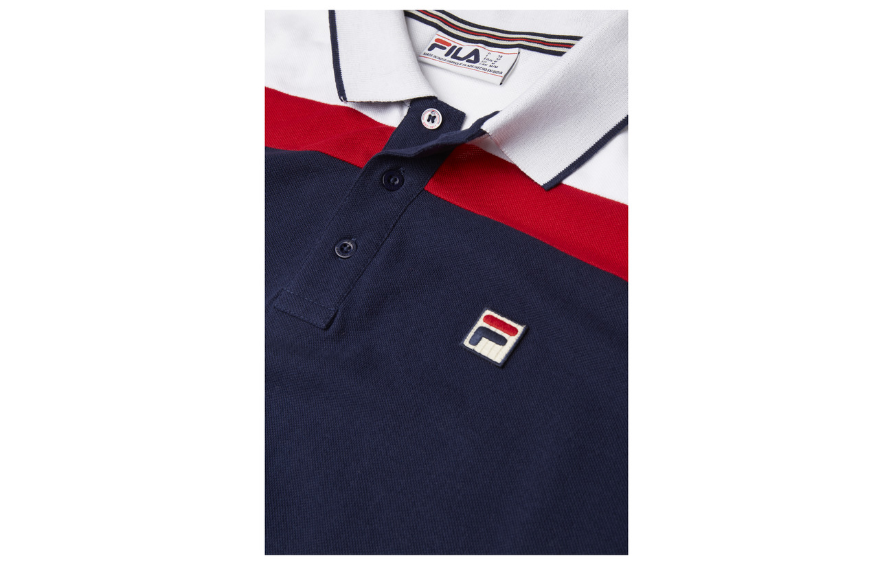 Fit Cut Spencer With white Panel Polo Sew Fila red Slim And Peacoat Yaf44xn