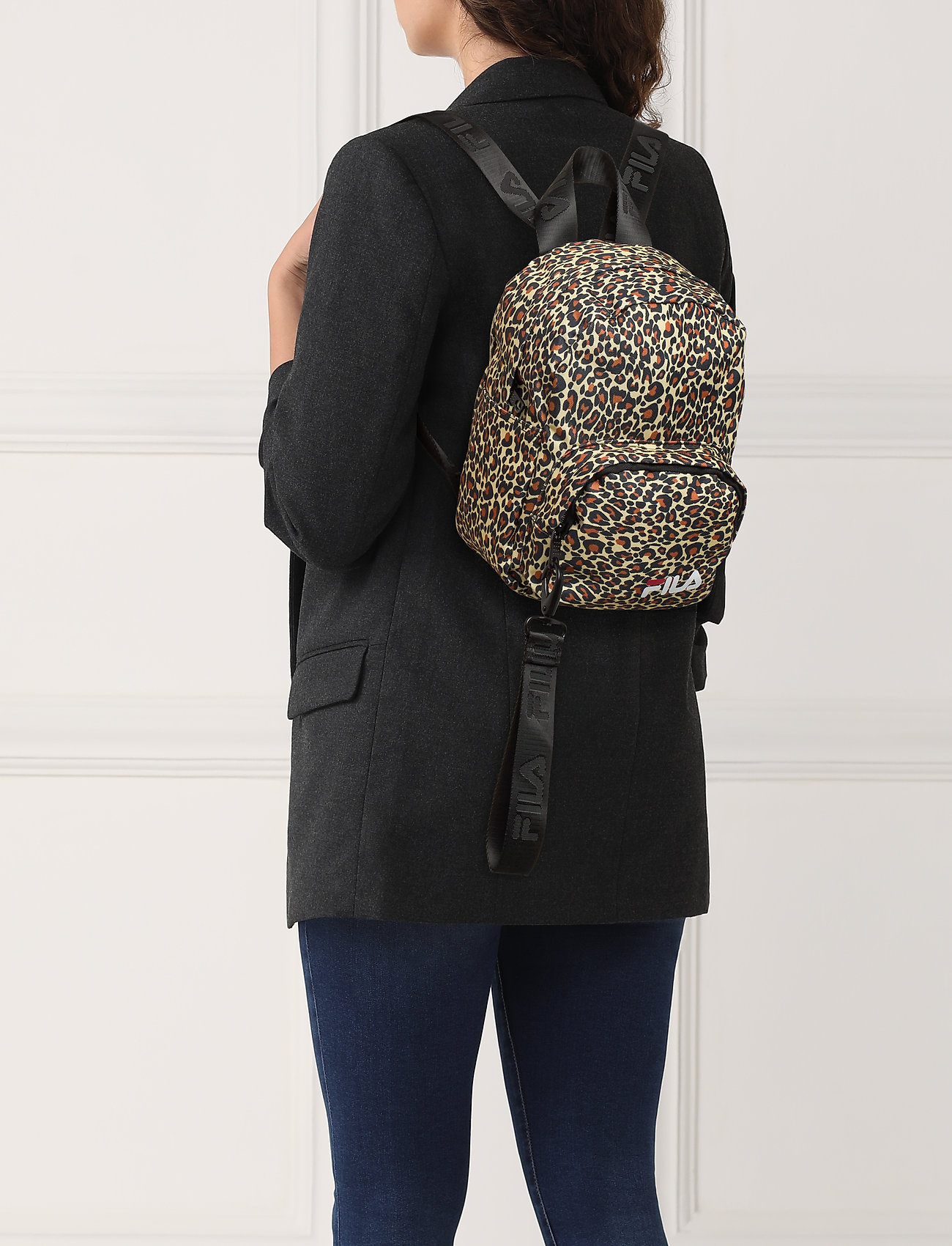 FILA VARBERG AOP mini strap backpack - ALLOVER LEO