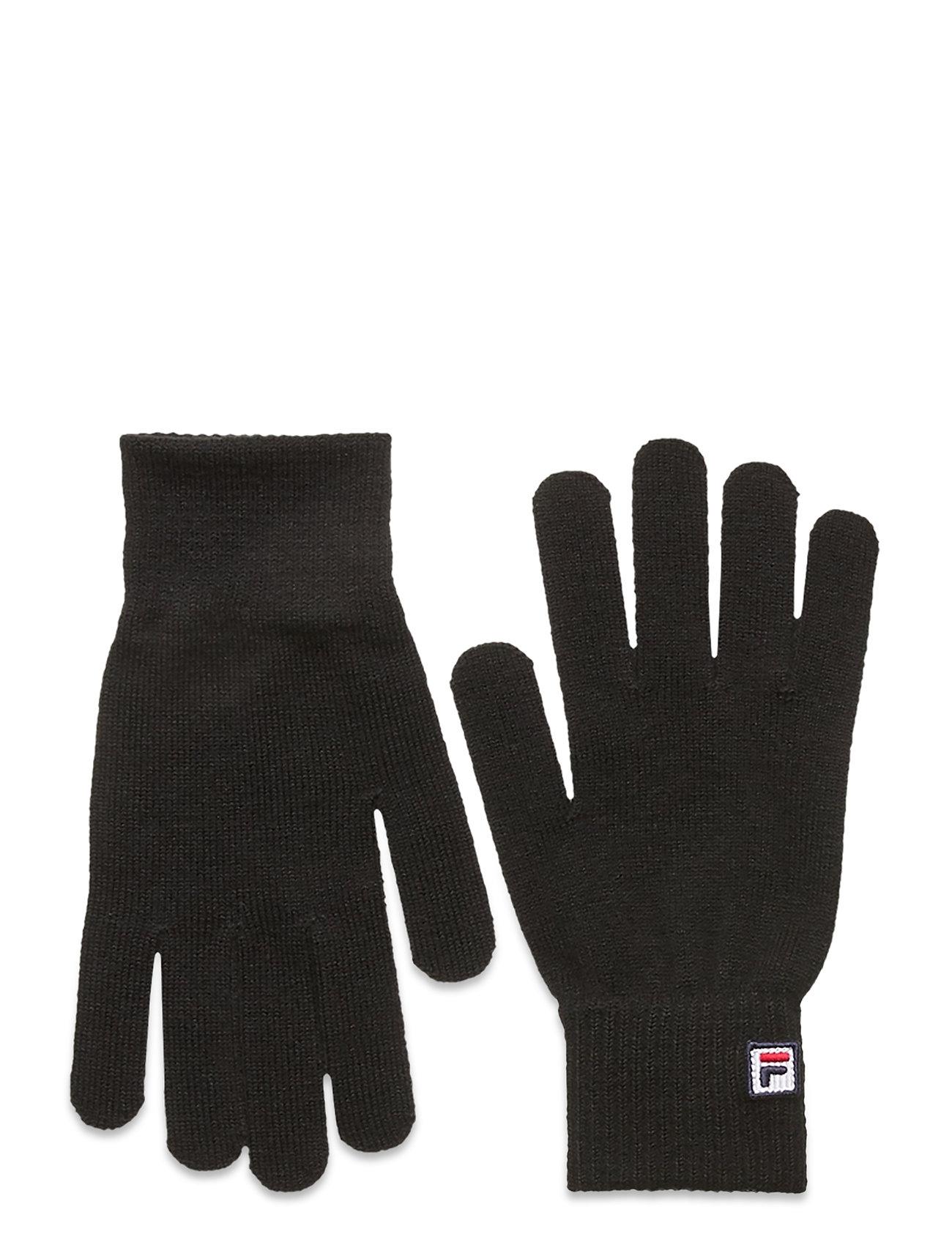 Basic Knitted Gloves With F-Box Logo Handsker Sort FILA