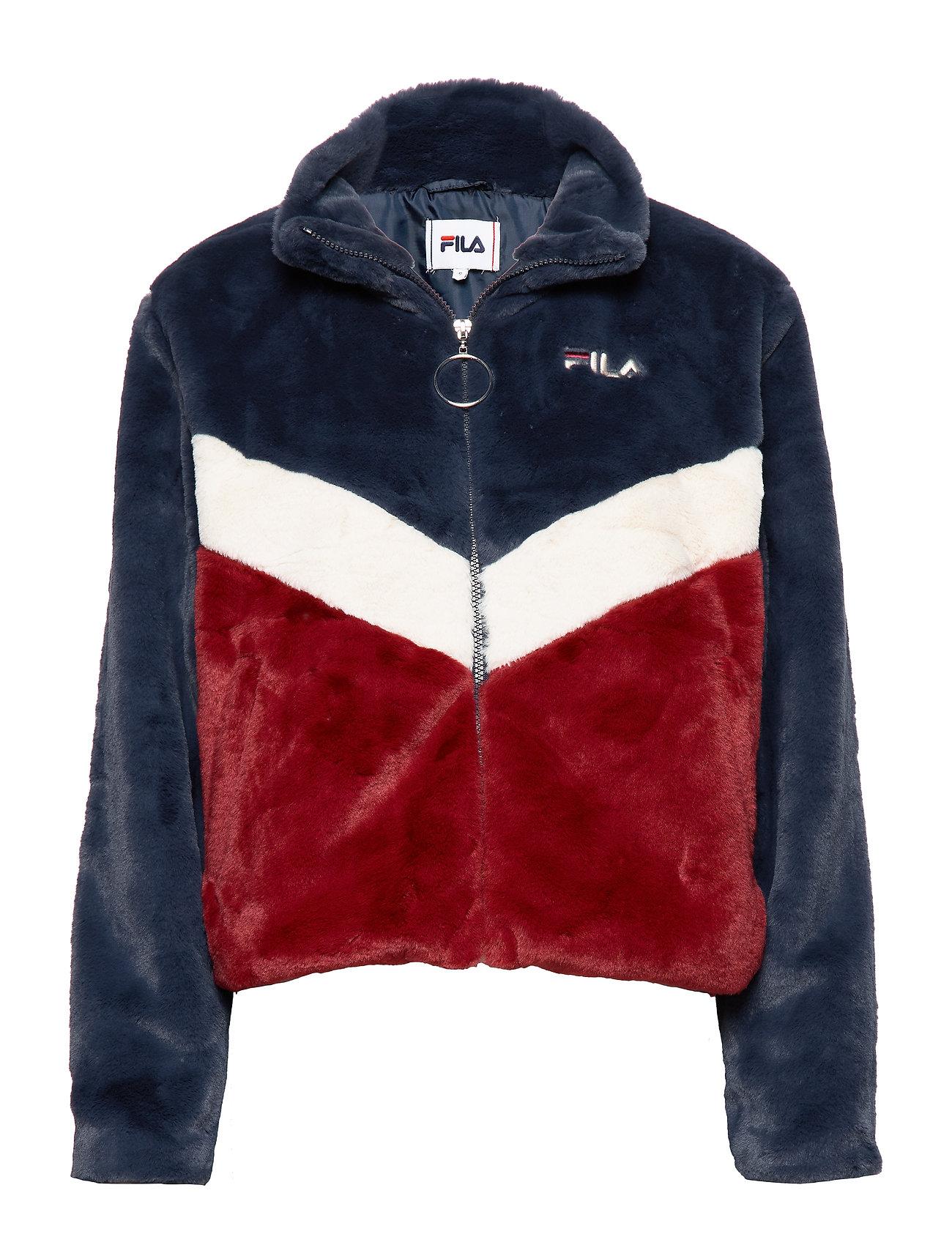 FILA WOMEN CHARMAINE jacket - A248 - BLACK IRIS-RHUBARB-WHITECAP GRAY