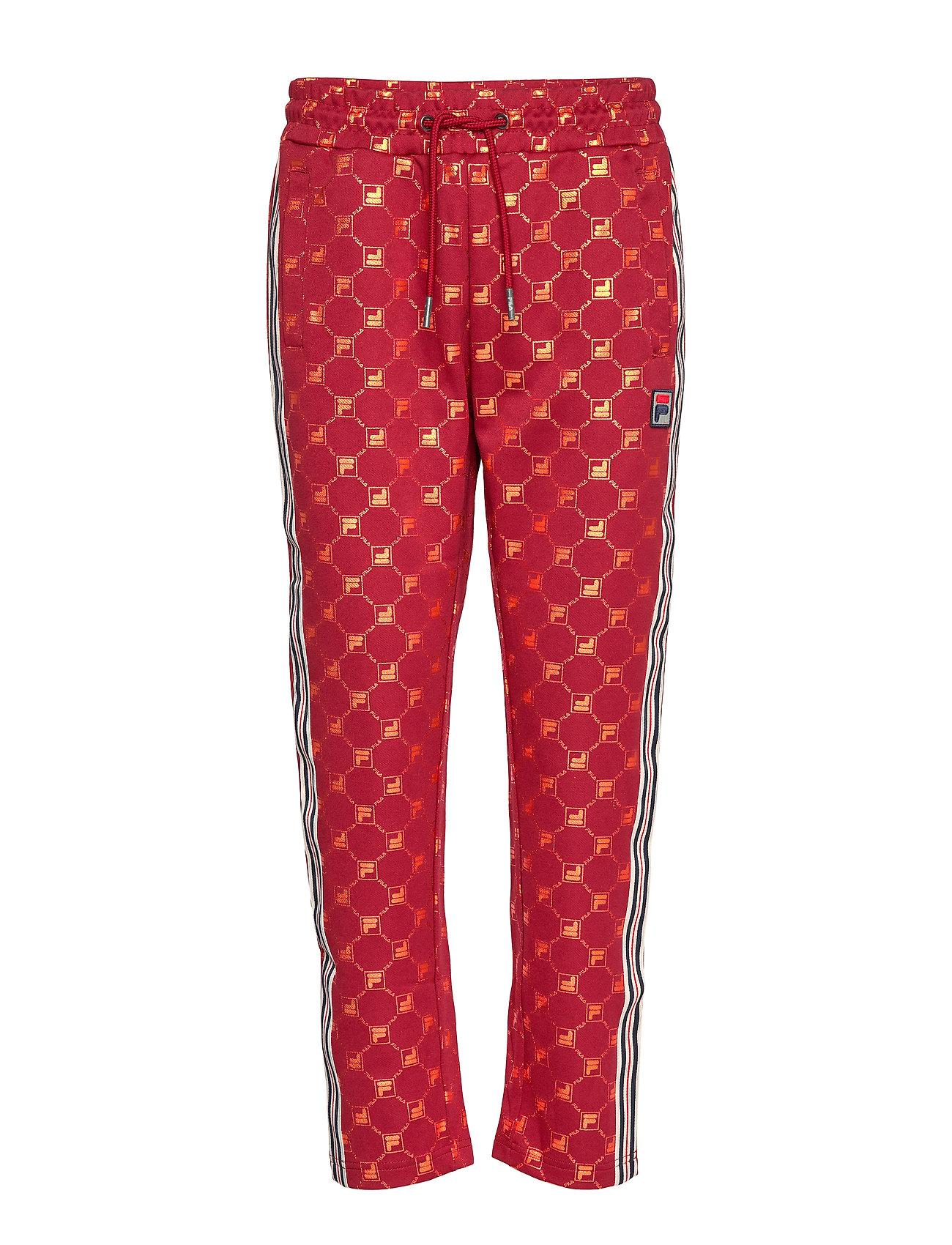 FILA WOMEN GVANTSA AOP cropped pants - A259 - RHUBARB-MANDARIN ORANGE ALLOVER
