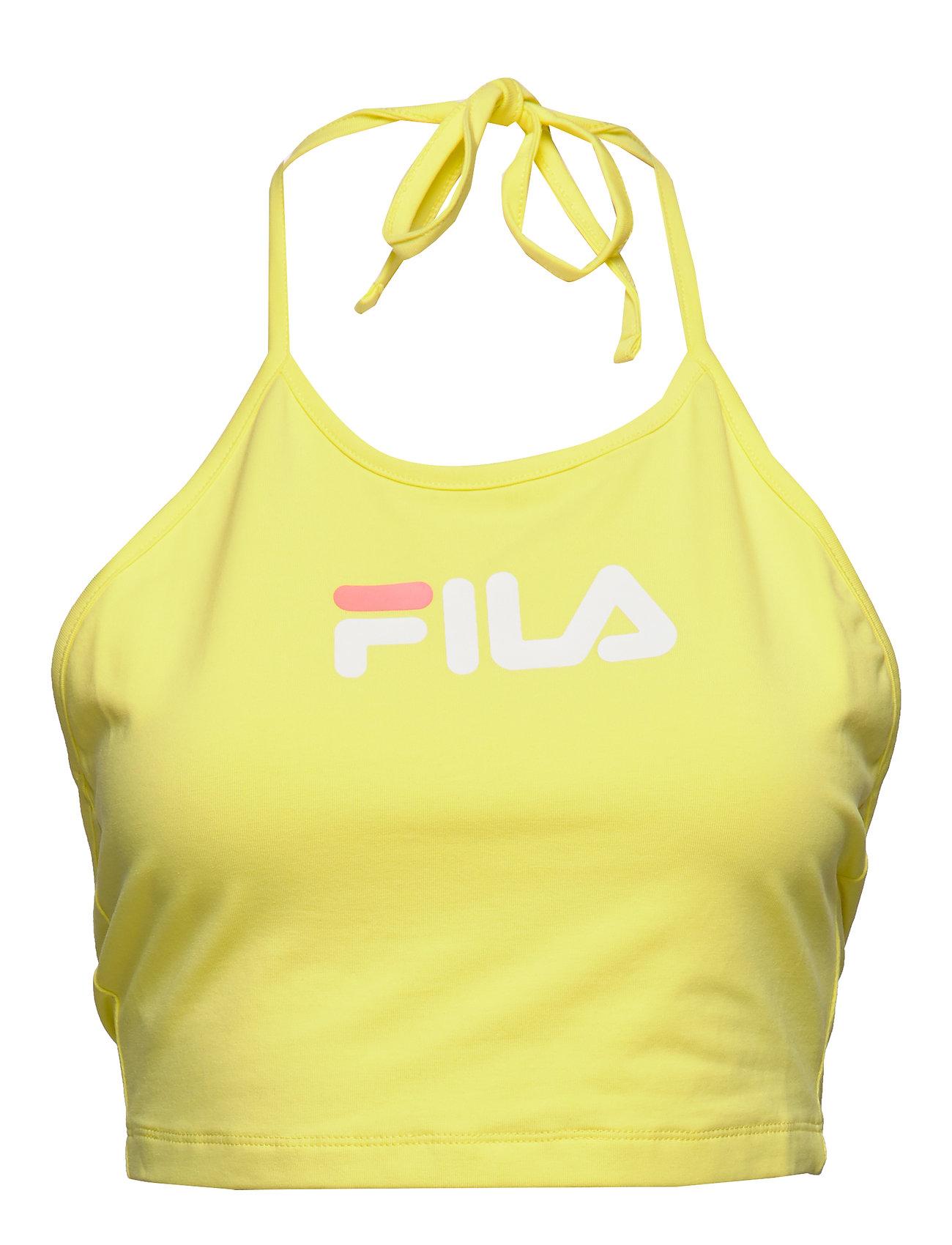 FILA WOMEN BEBE halter neck top - LIMELIGHT