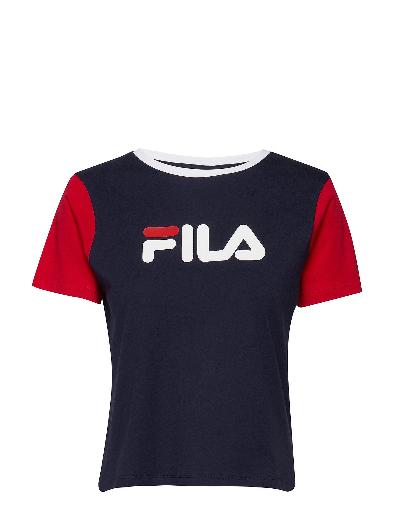 Image of Women Salome Tee T-shirt Top Blå FILA (3352579417)