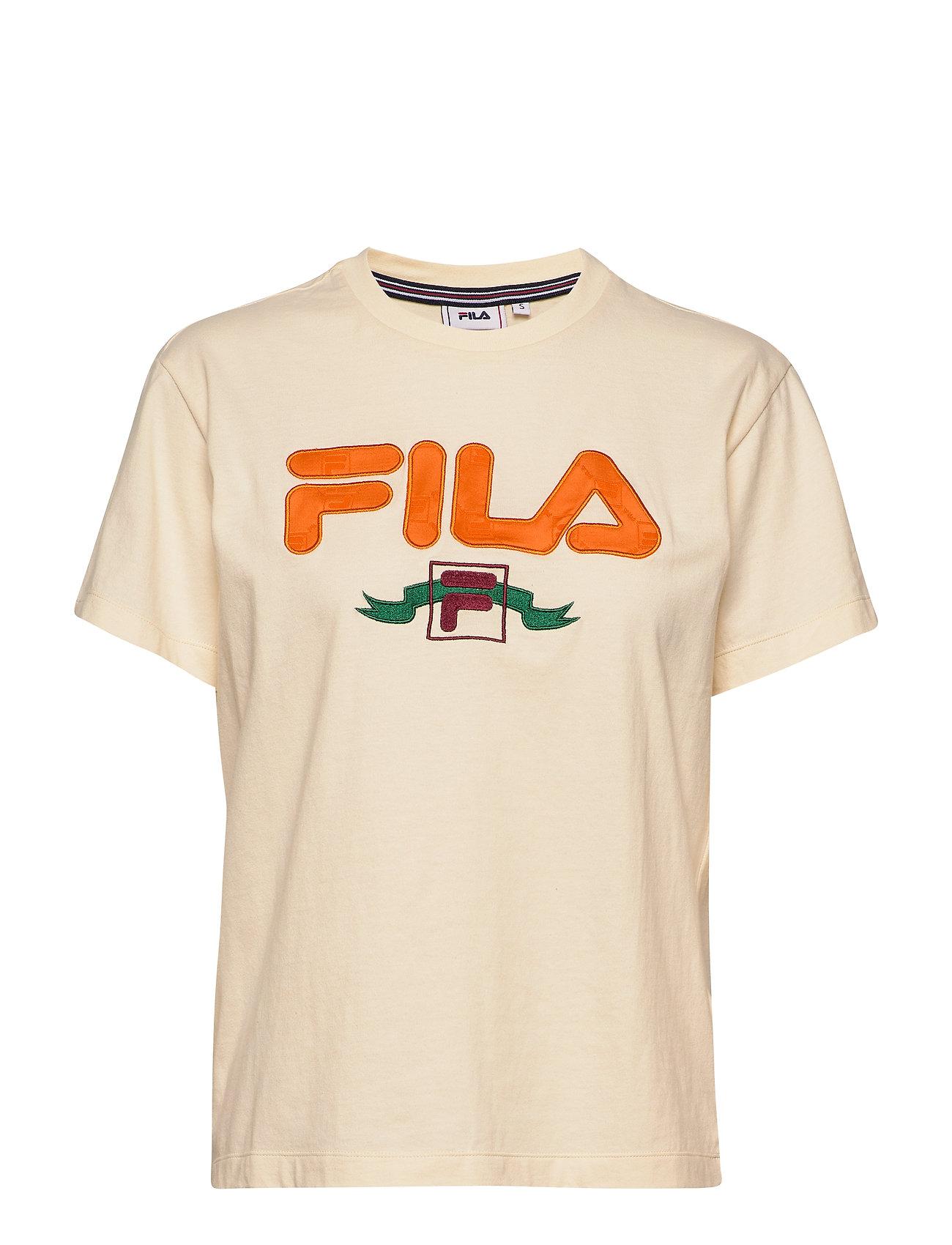 Image of Women Halona Tee T-shirt Top Creme FILA (3362841527)