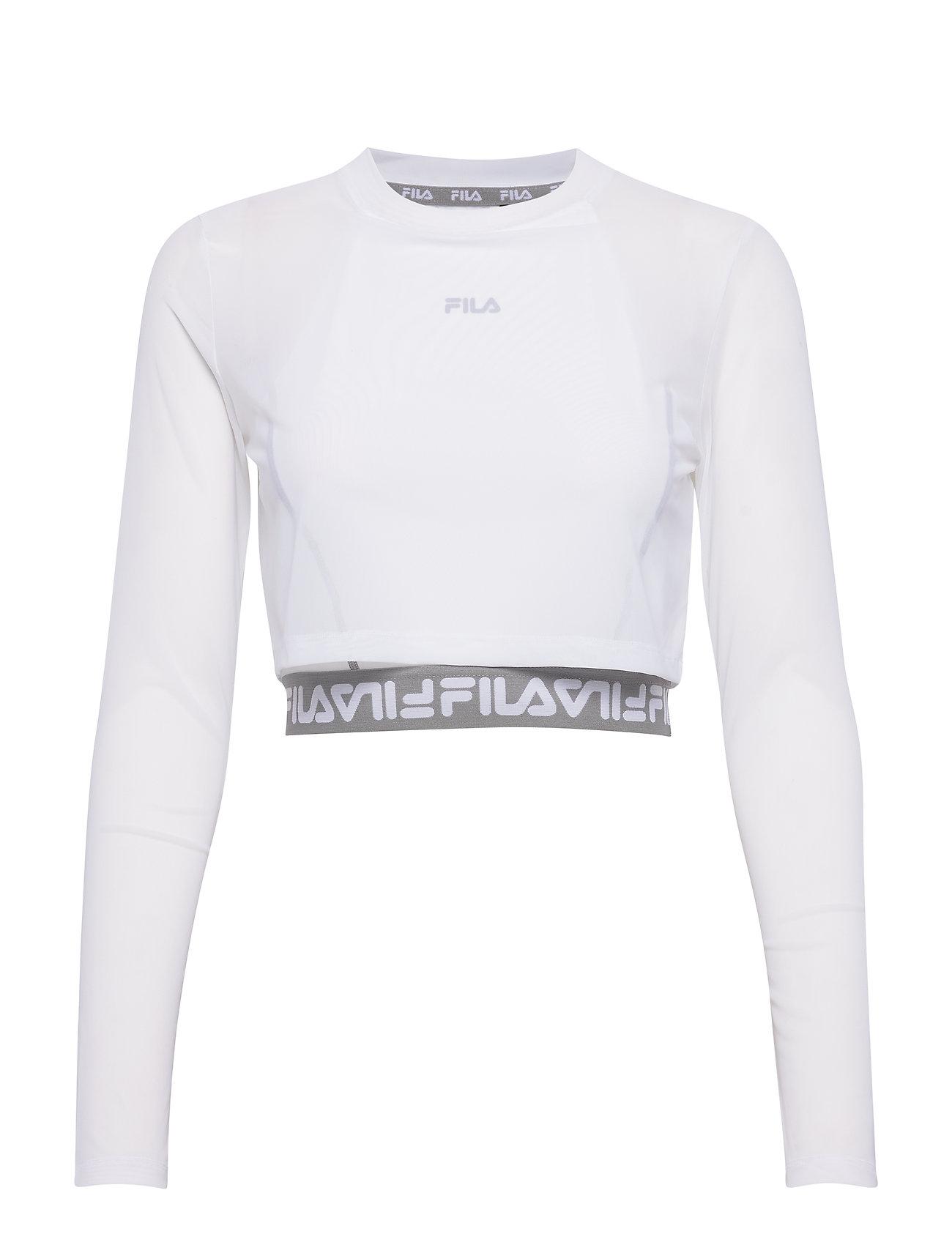 FILA WOMEN MAGENTA cropped double layer top - BRIGHT WHITE