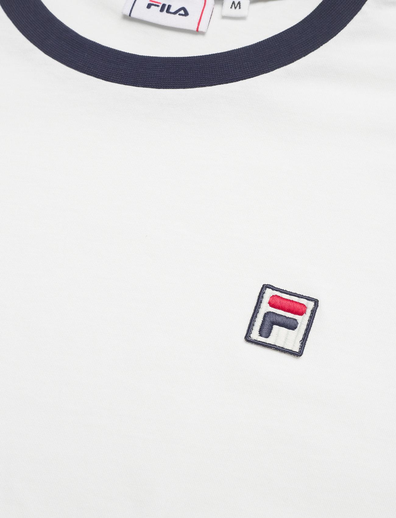 FILA MEN WARD ringer tee - T-skjorter BLANC DE BLANC-BLACK IRIS - Menn Klær