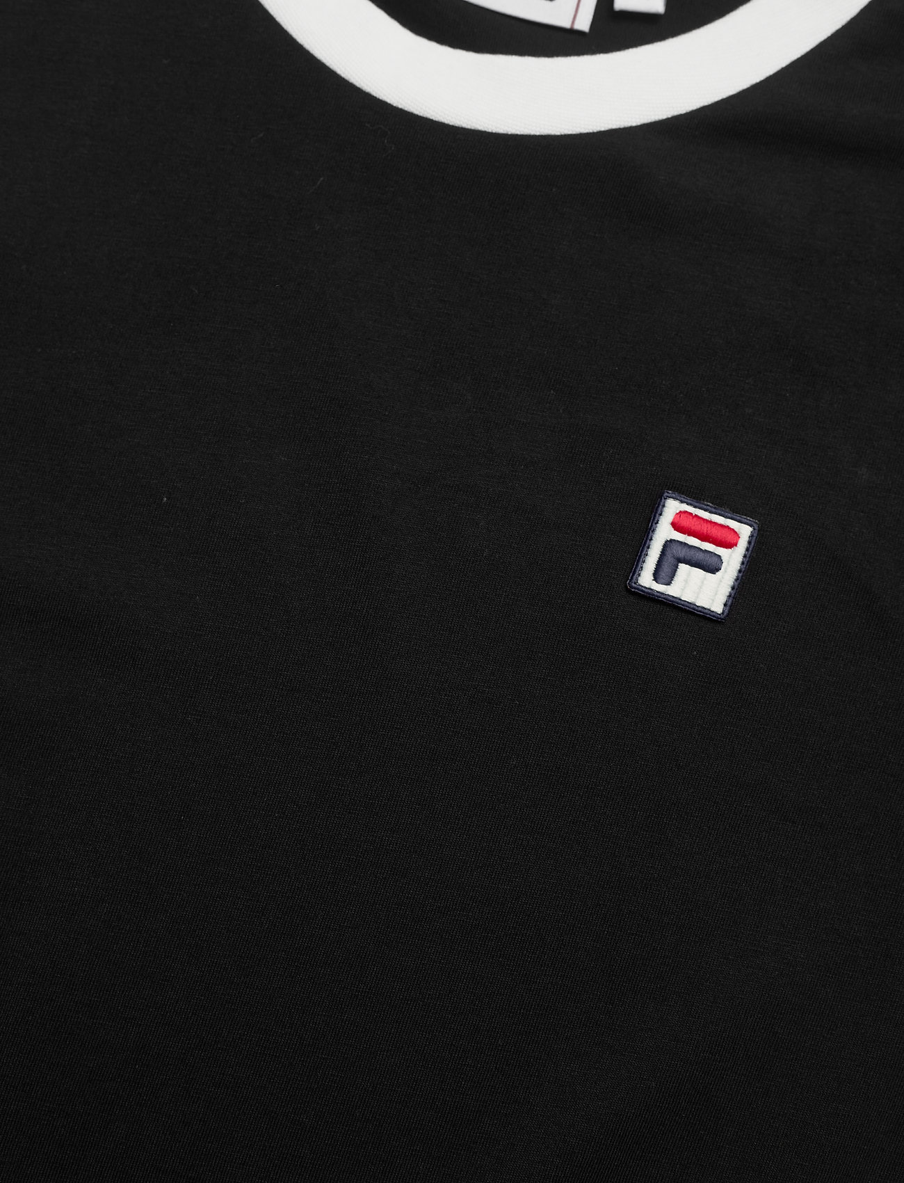 FILA MEN WARD ringer tee - T-skjorter BLACK-BLANC DE BLANC - Menn Klær
