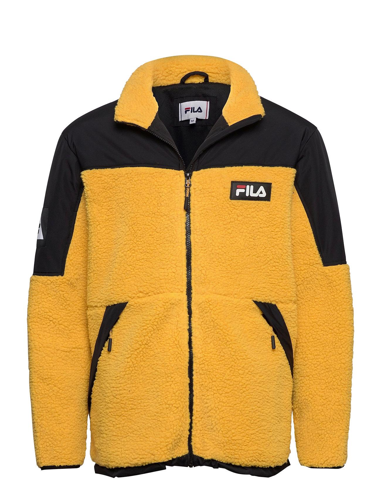 Image of Men Manolo Sherpa Fleece Jacket Sweatshirt Trøje Gul FILA (3452245301)