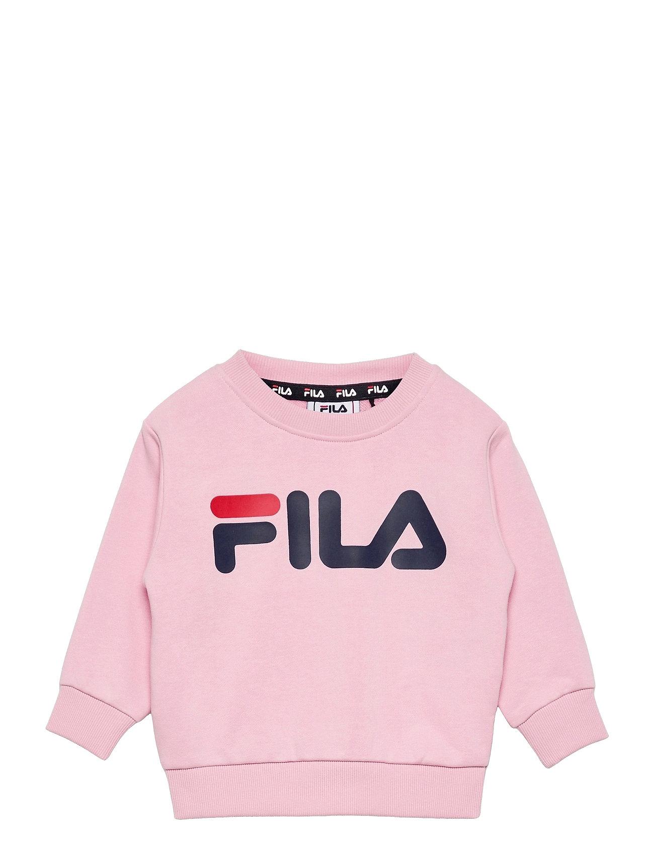 Tim Logo Crew Shirt Sweatshirt Trøje Lyserød FILA