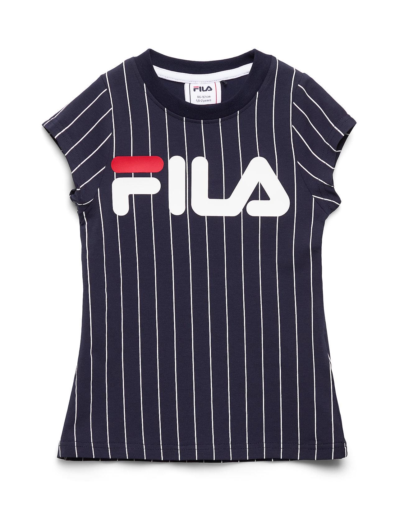 Image of Kids Tia Aop Tee Dress T-shirt Blå FILA (3406320815)