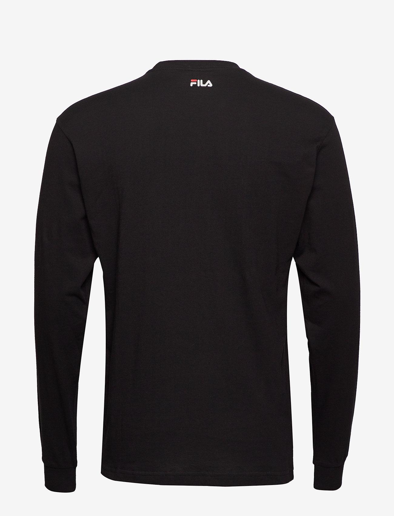 FILA - UNISEX CLASSIC PURE long sleeve shirt - hauts à manches longues - black - 1