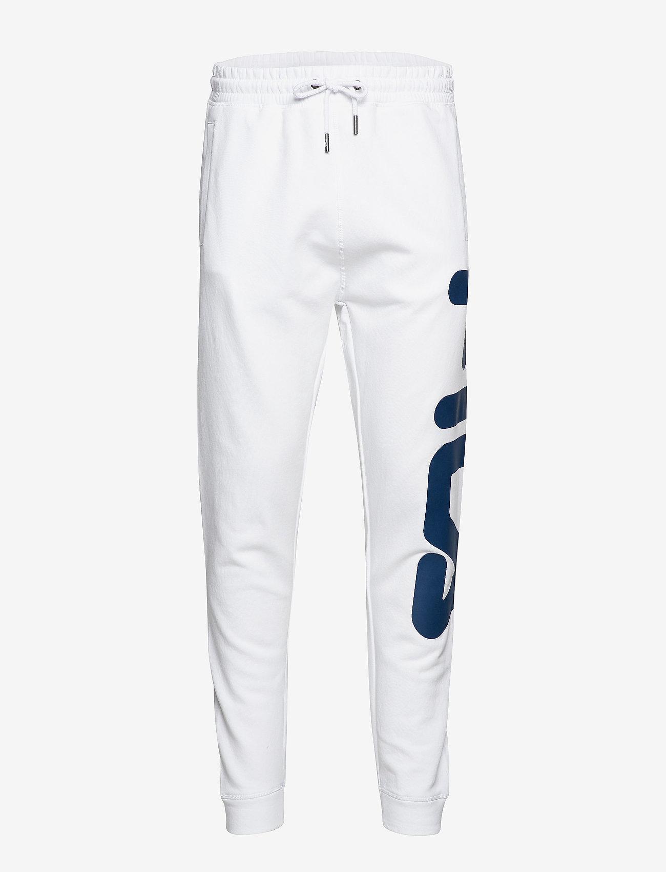 FILA - UNISEX CLASSIC PURE pant - treenihousut - bright white - 0
