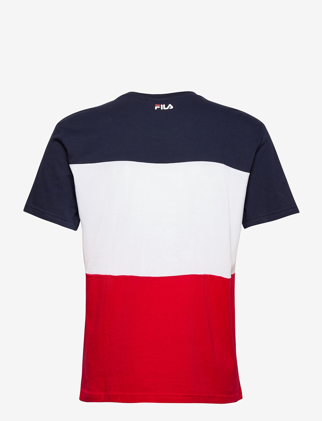 FILA DAY TEE - T-skjorter TRUE RED-BLACK IRIS-BRIGHT WHITE - Menn Klær