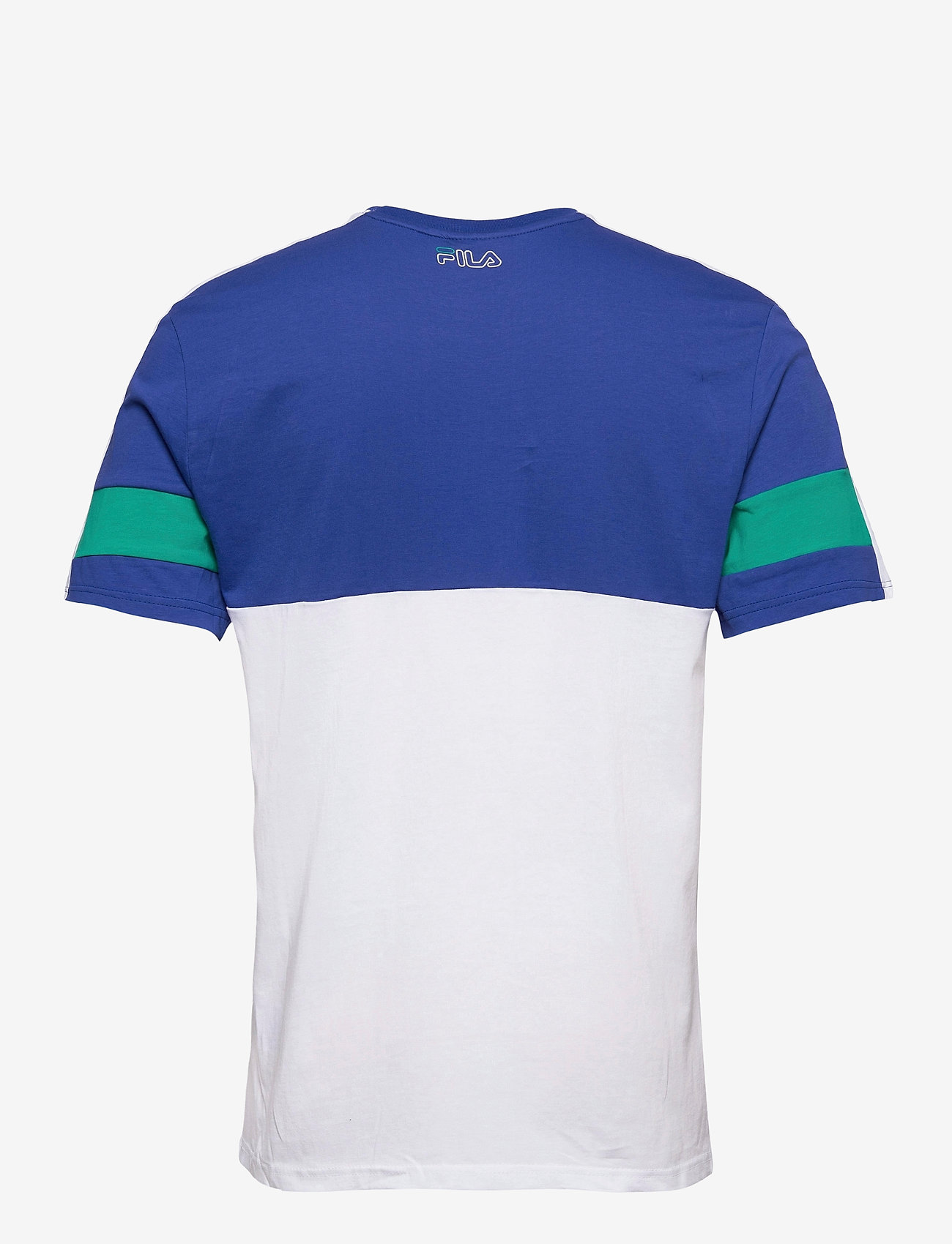 FILA - MEN JADON blocked tape tee - t-shirts - surf the web-bright white-alhambra - 1