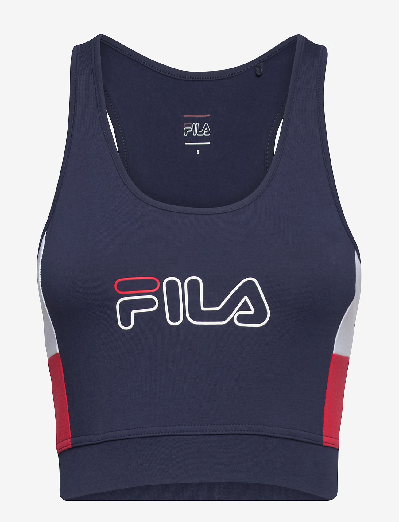 FILA - WOMEN JADEA cropped top - crop tops - black iris-true red-bright white - 0