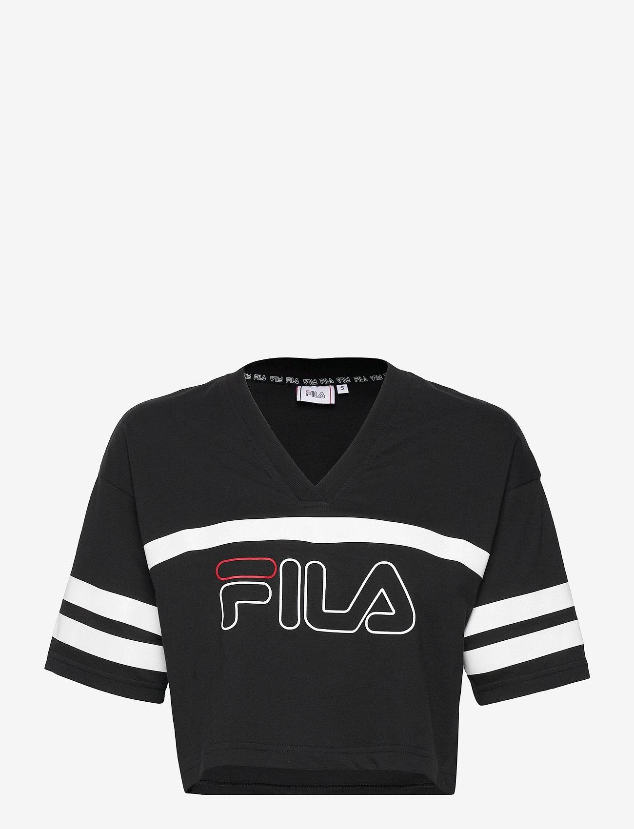 FILA - WOMEN JAINA cropped sporty tee - crop tops - black - 0