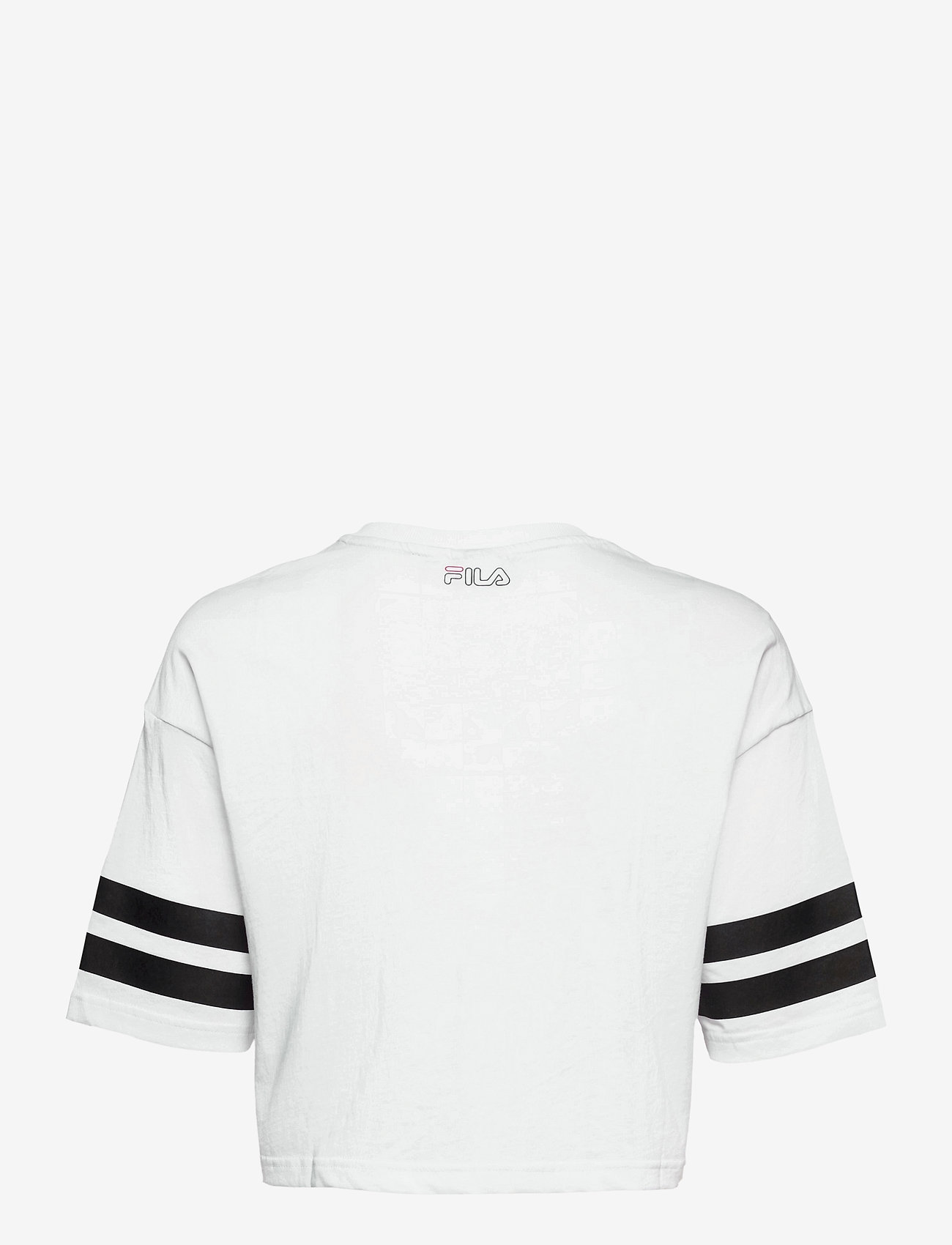FILA - WOMEN JAINA cropped sporty tee - crop tops - bright white - 1