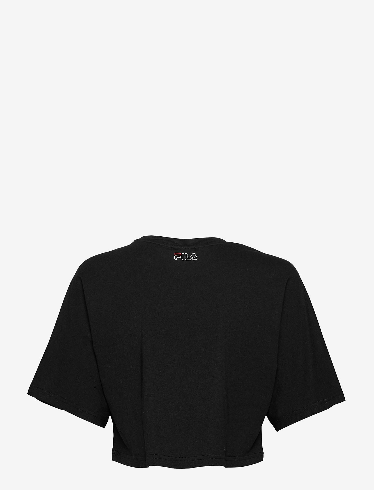 FILA - WOMEN JAMIELLE wide cropped tee - crop tops - black - 1