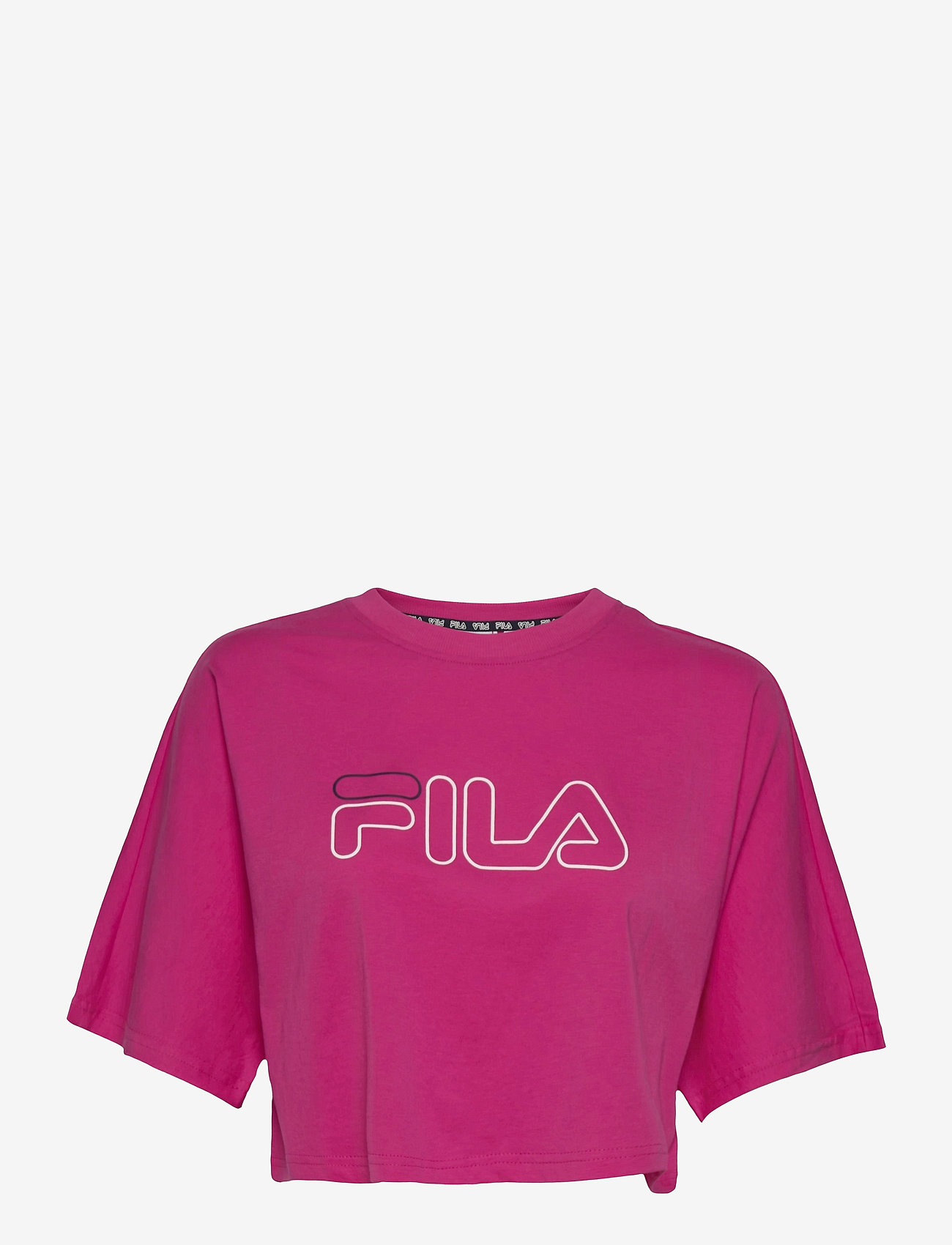 FILA - WOMEN JAMIELLE wide cropped tee - crop tops - fuchsia purple - 0