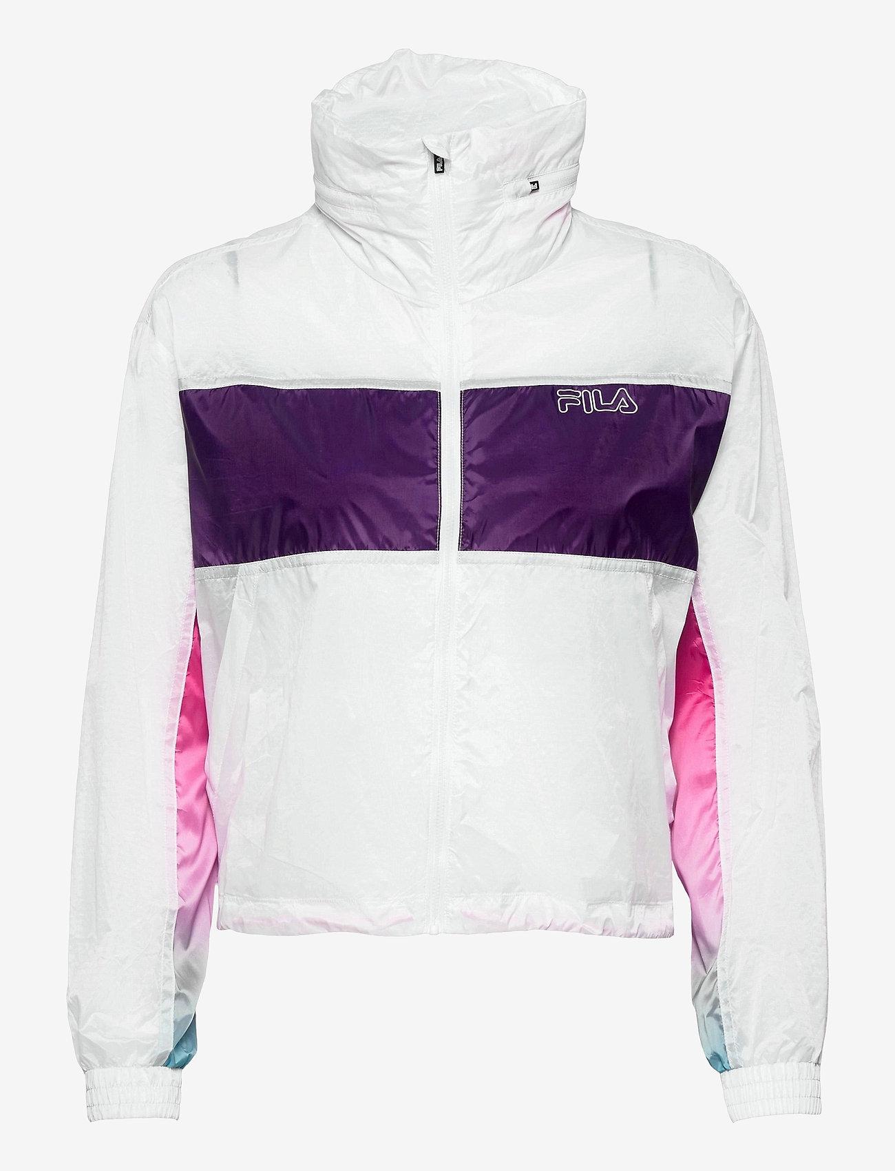 FILA - WOMEN EZRIA cropped wind jacket - anoraks - bright white-colour gradient - 0