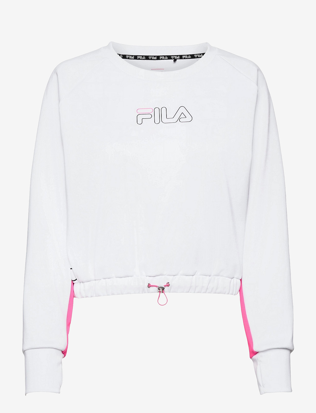 FILA - WOMEN EVELYN cropped shirt - crop tops - bright white-candy kiss - 0
