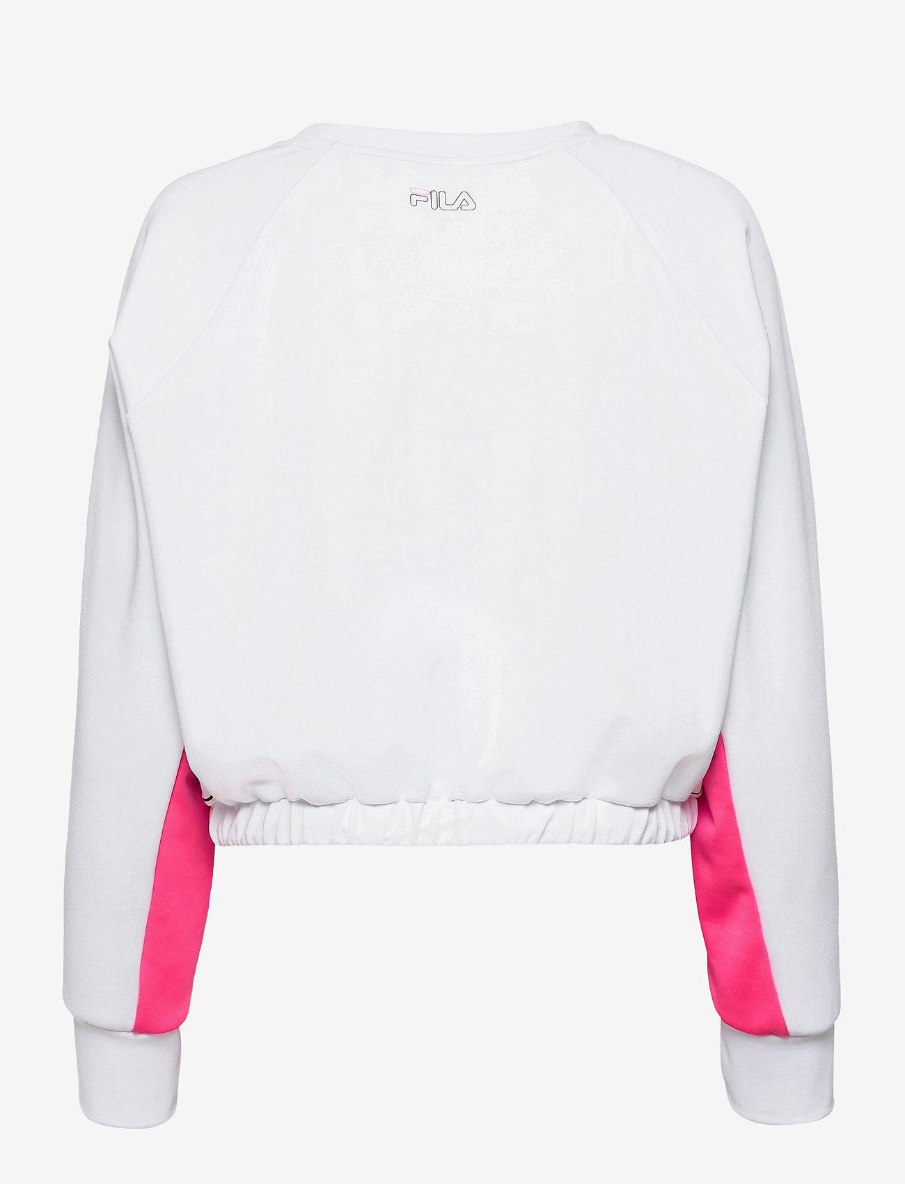 FILA - WOMEN EVELYN cropped shirt - crop tops - bright white-candy kiss - 1
