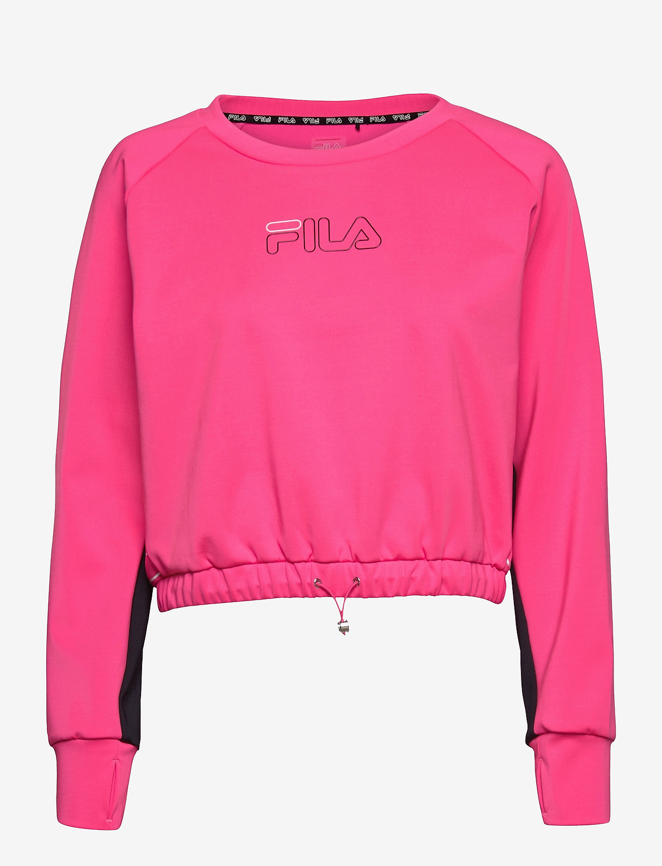 FILA - WOMEN EVELYN cropped shirt - crop tops - candy kiss-black - 0